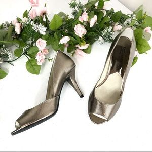 Michael Kors silver high heel shoes size 8.5M (#8)